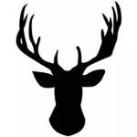 a Elk Head Silhouette Stencil